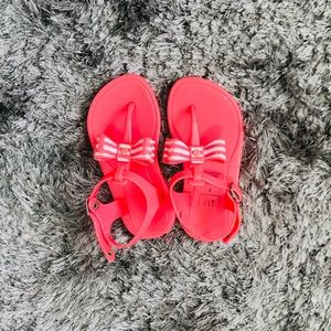 Baby Gap pink jelly bow sandals